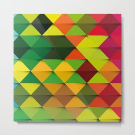 triangle full color Metal Print