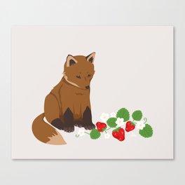 Strawberries for Fox Canvas Print