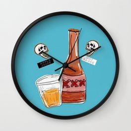 apple juice and hot sauce Wall Clock