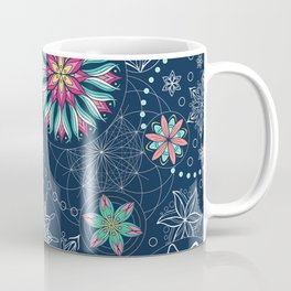 Circle Mandalas - kaleidoscope geometric circle patterns Coffee Mug