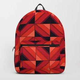 Fake wood pattern Backpack