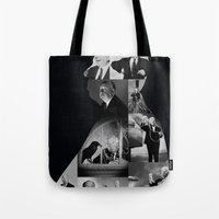 hitchcock Tote Bags featuring Hitchcock by tycejones