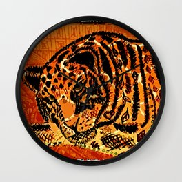 Sketched Indian Bengal Tiger Wall Clock