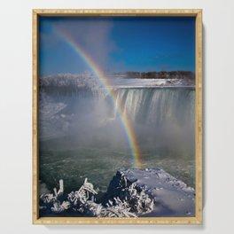 falls misty rainbow - 2 Serving Tray