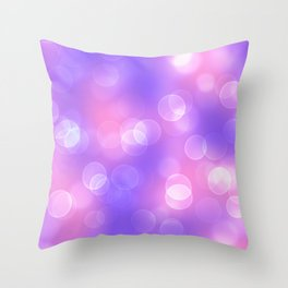 Soft lights Bokeh 1 Throw Pillow