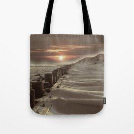 Fort Tilden Beach NYC sunset Tote Bag