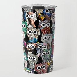 Gemstone Owls Travel Mug