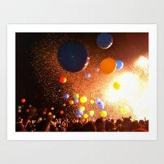 Tunes & Balloons Art Print