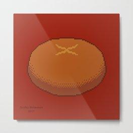 Round Bread Metal Print