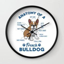Anatomy of a French Bulldog Wall Clock