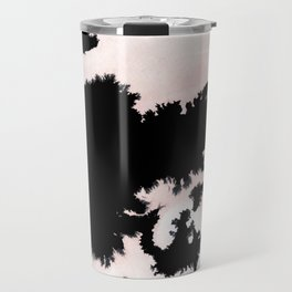 black, white and pink abstract 25 Travel Mug