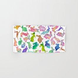Watercolour Bunnies Hand & Bath Towel