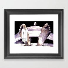 Toe Tag Framed Art Print