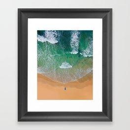 Drone Beach Framed Art Print