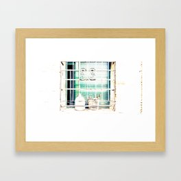 Bodegones encontrados (finding still life) Framed Art Print