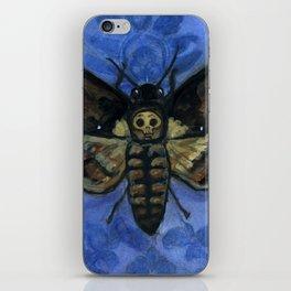 """A Victorian Deaths-Head"", Deaths-Head Hawkmoth Portrait iPhone Skin"