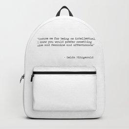 Excuse me - Zelda Fitzgerald Backpack