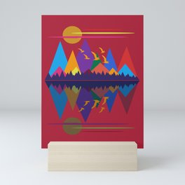 Mountain Scene #9 Mini Art Print