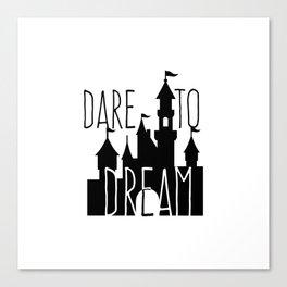 Dare to Dream Fantasy Castle Silhouette Canvas Print