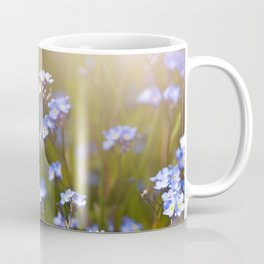 Forget me not flowers in sunlight Coffee Mug