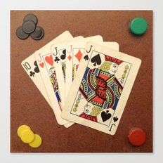 Poker de Jotas Canvas Print