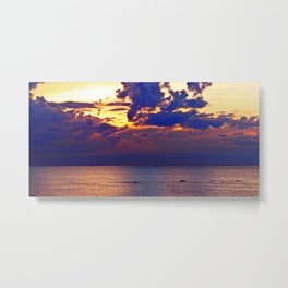 Abstract Clouds over the Sea - The Running Man Metal Print