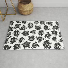 Traditional Roses Pattern Rug