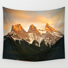 Three Sisters - Golden Peaks Wall Tapestry