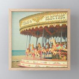 Seaside Carousel Framed Mini Art Print