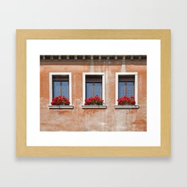 Three Windows in Venice Framed Art Print