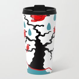 Birds in the trees Metal Travel Mug