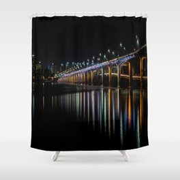 Banpo Bridge Fountain Shower Curtain