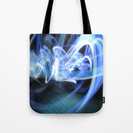 (Mostly) Blue Light Painting Tote Bag