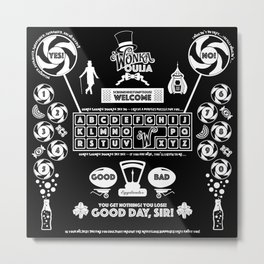 Sweet Ouija Board (White on Black) Metal Print