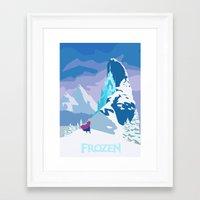 frozen Framed Art Prints featuring Frozen by TheWonderlander