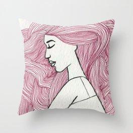Bed hair  Throw Pillow
