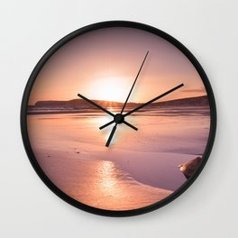 Wight Sunset Wall Clock
