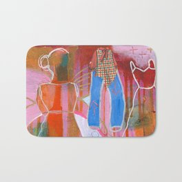 """""""Sees Painting"""" original painting by Alison Moncrieff Bath Mat"""