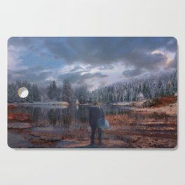 The coming of the dawn Cutting Board