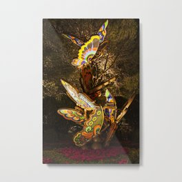 Butterflies, Wynn Entrance, Las Vegas, Nevada Metal Print