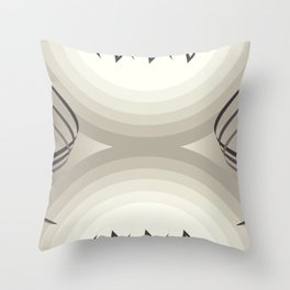 brown & white Throw Pillow