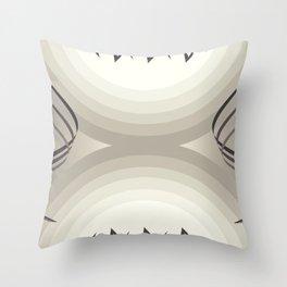 brown & white Throw Pillow