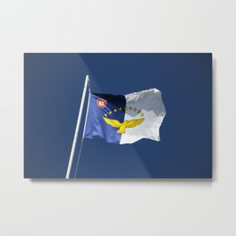 Flag of Azores islands Metal Print