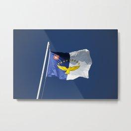 Flag of Azores islands Metal Print