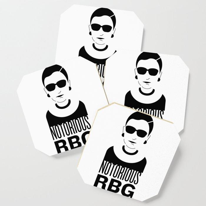 notorious rbg coaster by katiekatherine society6