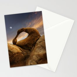 Sunset Over Mobius Arch in the Alabama Hills. Stationery Cards