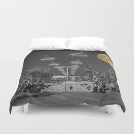 Chair Lift to the Moon Duvet Cover