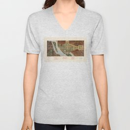 The Mall, Washington D.C. Map (1915) Unisex V-Neck