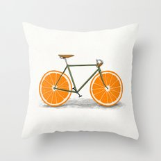Zest (Orange Wheels) Throw Pillow