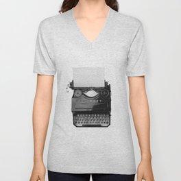 typewriter Unisex V-Neck